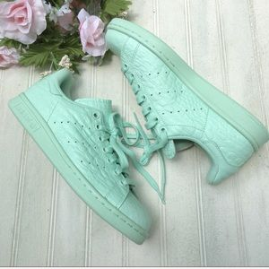 adidas Shoes - Adidas Stan Smith Green Textured Low Top Sneakers
